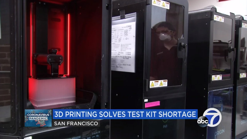 David Louie from ABC7News on 3d printed test swabs
